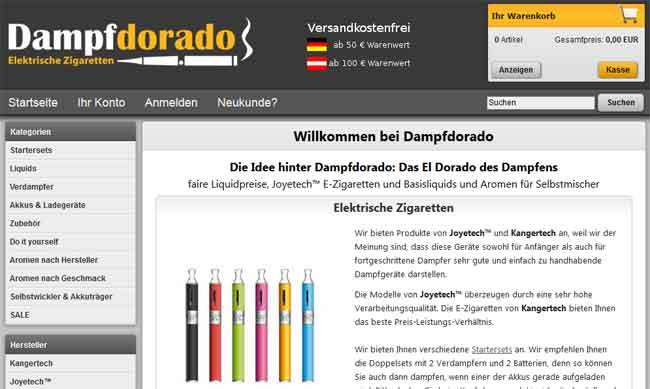 dampfdorado-online-shop